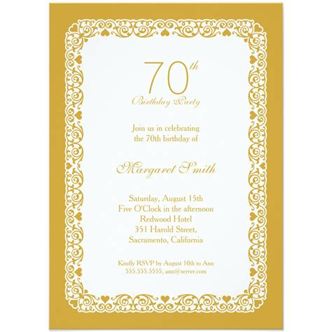 Custom Invitations by Personalized 70th Birthday Invitations