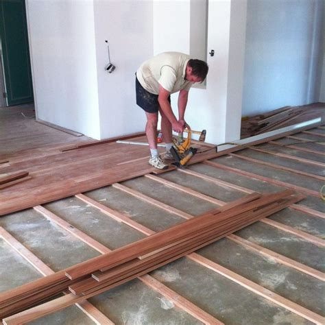 wood floor installation on concrete slab gurus floor