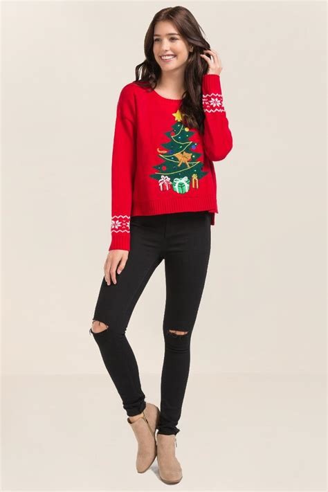 tree sweater with lights tree light up sweater s