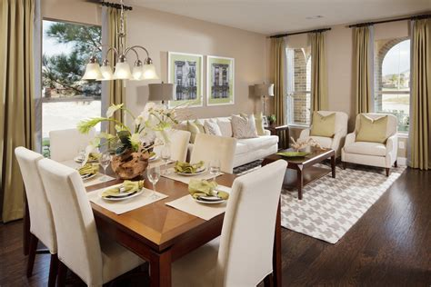 townhouse living room dining room combo