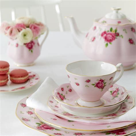 Teacup New Country new country roses pink 3 teacup set by royal albert