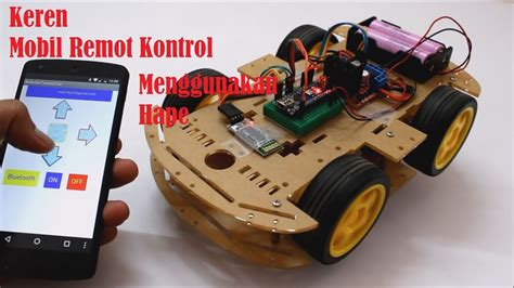 cara membuat robot remot sederhana membuat mobil 4wd remot kontrol sederhana dikontrol