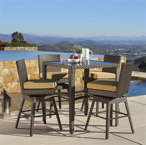 mission hills dining room set madrid 5pc bar height dining collection mission hills