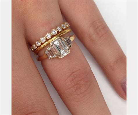 Two Tone Engagement Rings stacked wedding ring styles that ll leave you breathless
