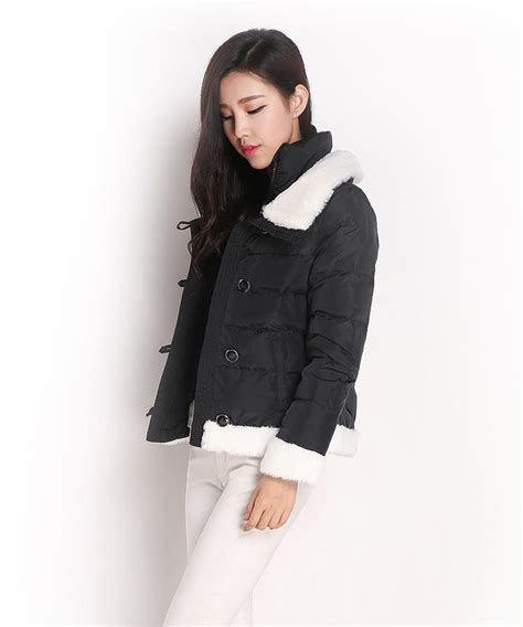 jaket musim dingin korea black padded jacket