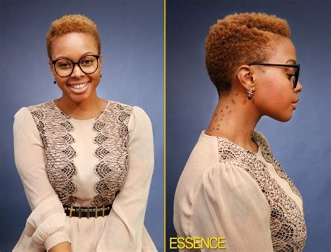 blonde twa tapored cut the ever so stylish chrisette michelle short natural