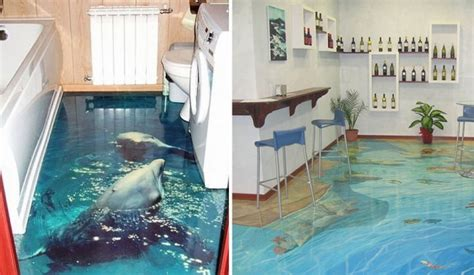 3d bathroom floor painting 3d liquid floors they really look like water pee