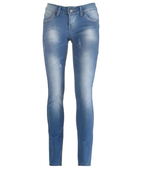light skinny jeans womens new women light blue wash faded distressed skinny slim fit