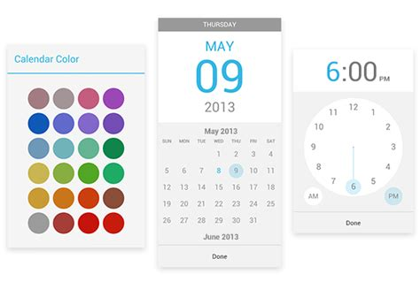 calendar app for android calendar for android update brings custom colors