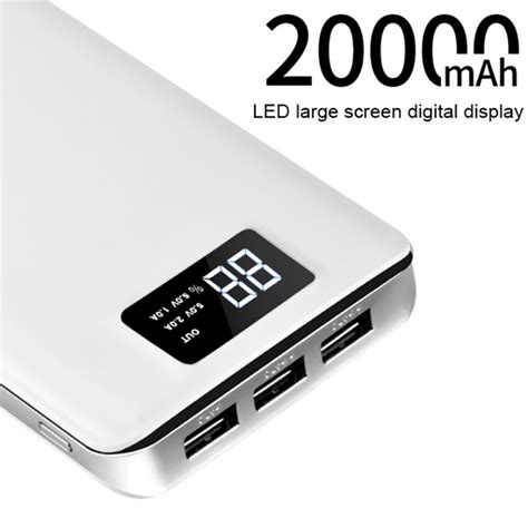 Power Bank Cell Vippo hoco 3 usb mobile power bank 20000mah powerbank portable charger external battery 20000 mah