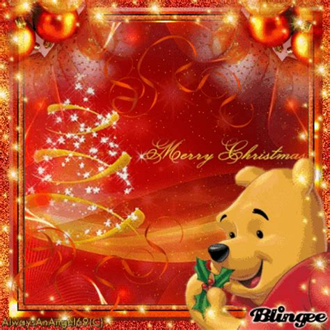 merry christmas winnie  pooh alwaysanangelc picture  blingeecom
