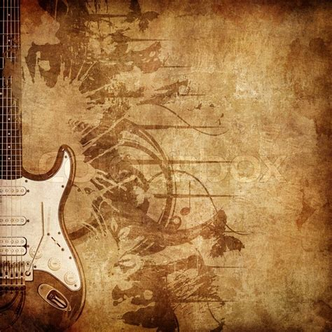 old paper retro music texture background with jazz