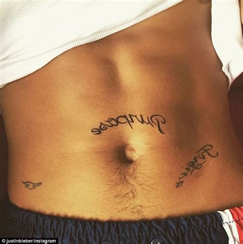 purpose tattoo justin bieber hints at new album name on instagram with