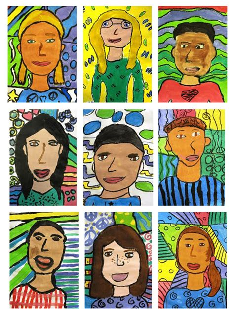 children s matisse portraits for fifth grade deep space sparkle