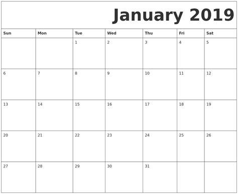 printable calendar january 2019 february 2019 printable calendars