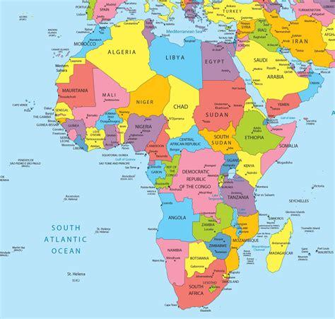 d la l carte de l afrique cartes sur le continent africains