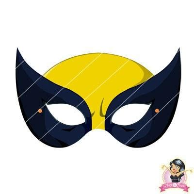 printable wolverine mask childrens printable x men wolverine mask simply party