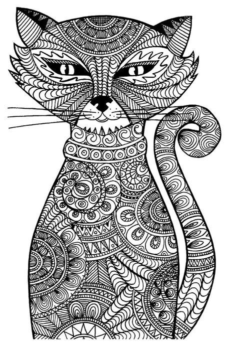 ausmalbilder erwachsene ausdrucken tiere katze ausmalen