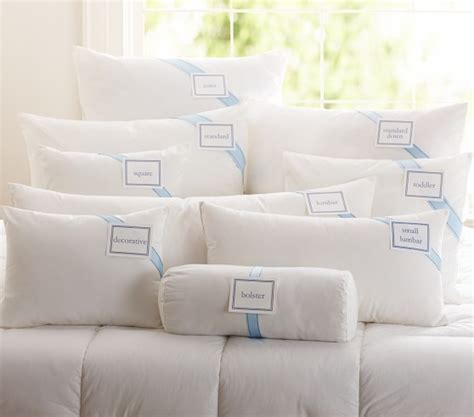 How Big Is A Size Pillow by Luxury Loft Alternative Pillows Pottery Barn
