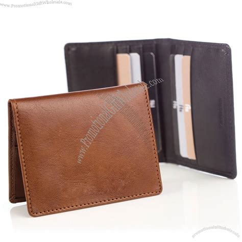 how to make a leather card holder leather credit card holder wallet in brown blak printing