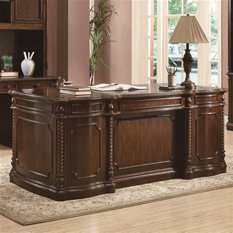 walnut home office desk webb traditional home office executive desk in walnut