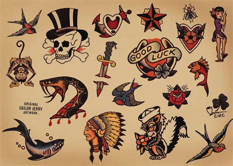 temporary tattoos by easytatt sailor jerry collection