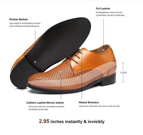 shoes to make taller custom taller shoes woven leather height increasing