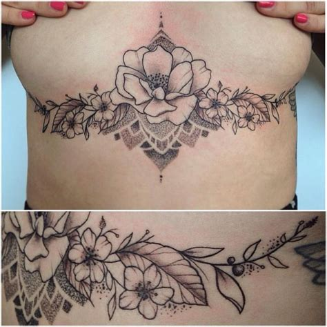 tattoos under boob 25 best ideas about mandala sternum on