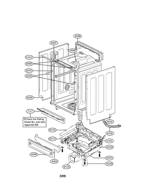 lg dishwasher parts diagram lg dishwasher parts model ldf7811ww sears partsdirect