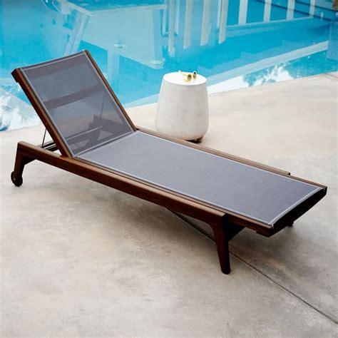 outdoor lounger mid century outdoor lounger auburn west elm