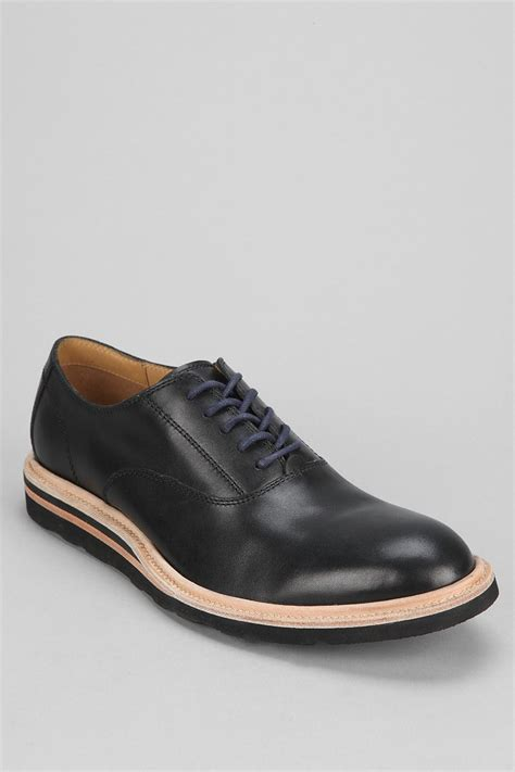 cole haan oxford shoes cole haan wedge oxford shoe in black for lyst