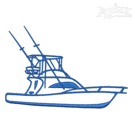 fishing boat embroidery design fishing boat embroidery design