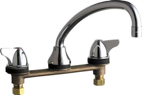 commercial grade kitchen faucets chicago faucets 1888 abcp chrome commercial grade low arch
