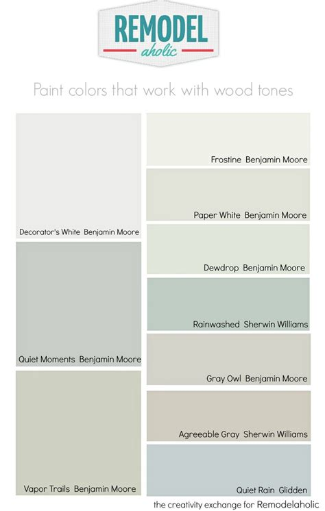 colors that work with gray remodelaholic choosing paint colors that work with wood