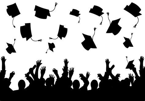 graduation background templates graduation background vector silhouette free