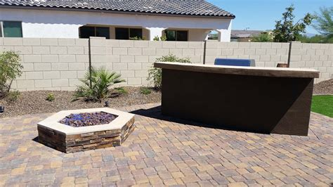 Built In Bbq Arizona Living Landscape And Design Call 480 Bbq Firepit