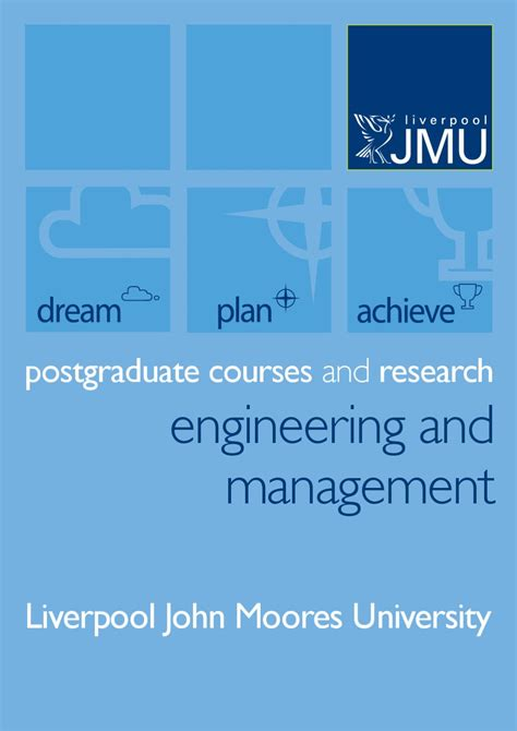 Liverpool Moores Mba World Ranking by Ljmu Engineering Management By Liverpool Moores