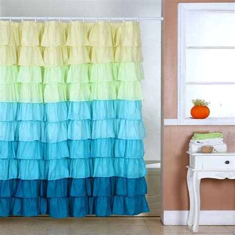 ruffle curtains walmart somerset spring ruffle home shower curtain with