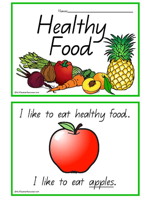 healthy food healthy books 31 healthy food vocabulary words k 3 resources