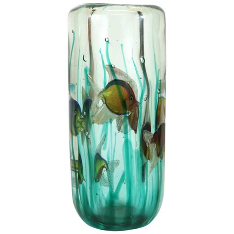 Vase Light Base by Alfredo Barbini Aquarium Vase With Light Base Pauly And