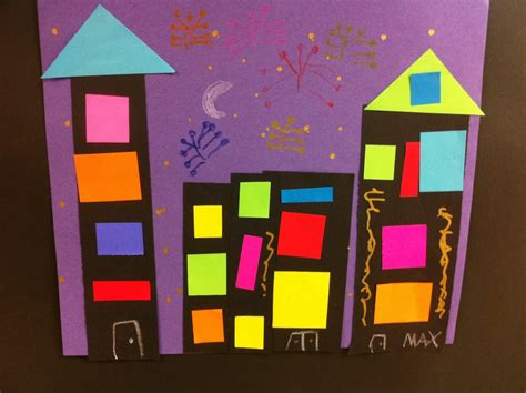 pattern artwork for kindergarten art sub lessons cityscape for kinders