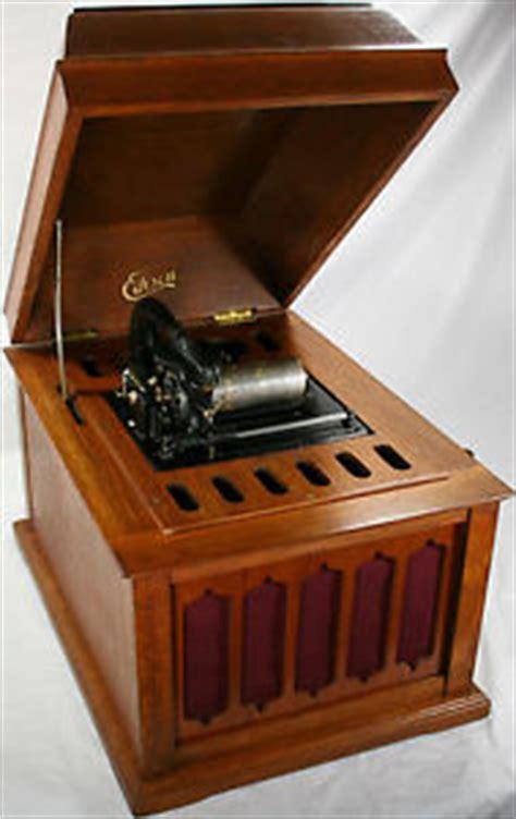 vtg orig oak thomas edison amberola 50 cylinder phonograph