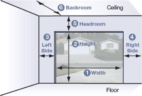 how to measure garage door size how to measure for a garage door best overhead door