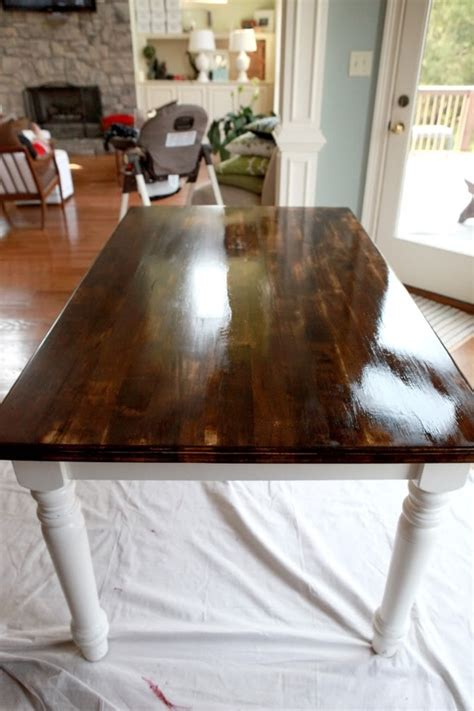 diy refinish the kitchen table for the home