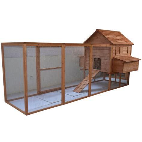 pawhut 144 quot large backyard hen house chicken coop w long