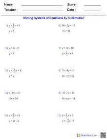 Solve For Variable Worksheet by Solving Two Variable Systems Of Equations Worksheets