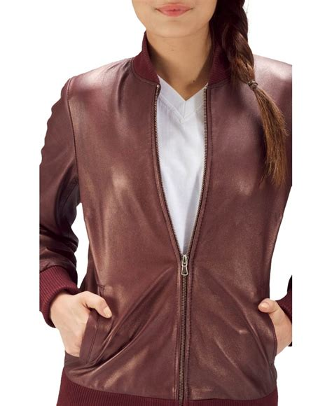 Bomber Jaket Maroon maroon classic leather bomber jacket jackets maker
