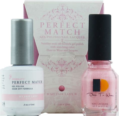 perfect match colors lechat perfect match gel polish nail lacquer my fair