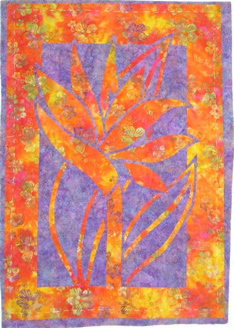 Pacific Quilt Company by Two Fabric Appliqu 233 Bird Of Paradise Pattern From