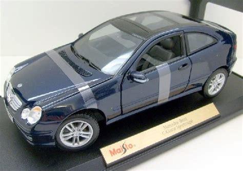 Diecast Blue Mercedes maisto 1 18 diecast mercedes c class blue sports coupe 31614 nib ebay